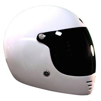 Casque De Moto Vintage Pure Brillant De Chez Gpa En Blanc Vue De