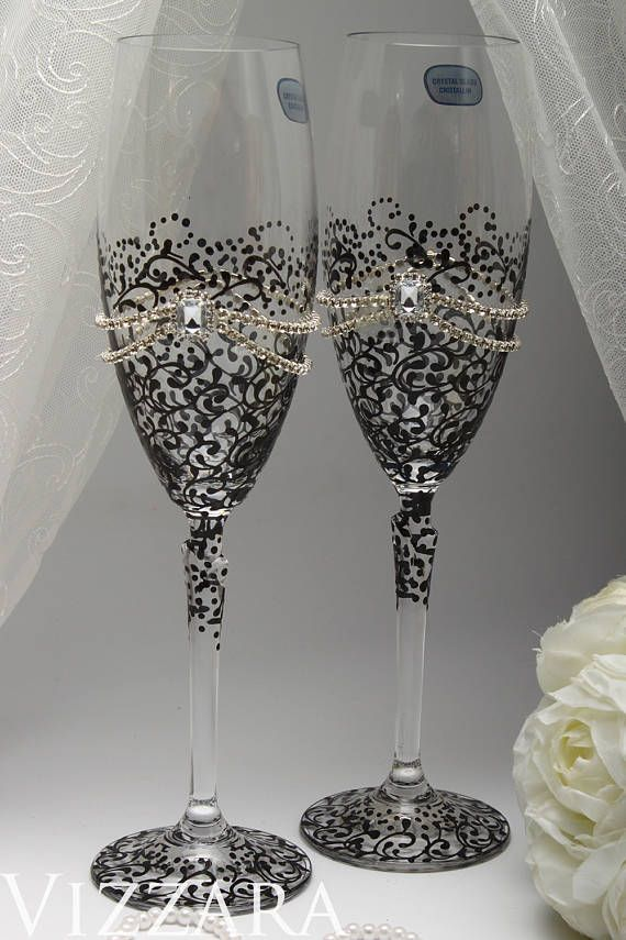 Wedding Gifts Black Glasses Wedding Ideas Set Black White