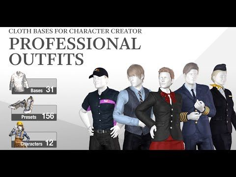 iclone combo pack professional outfits 3d clothing for 3d