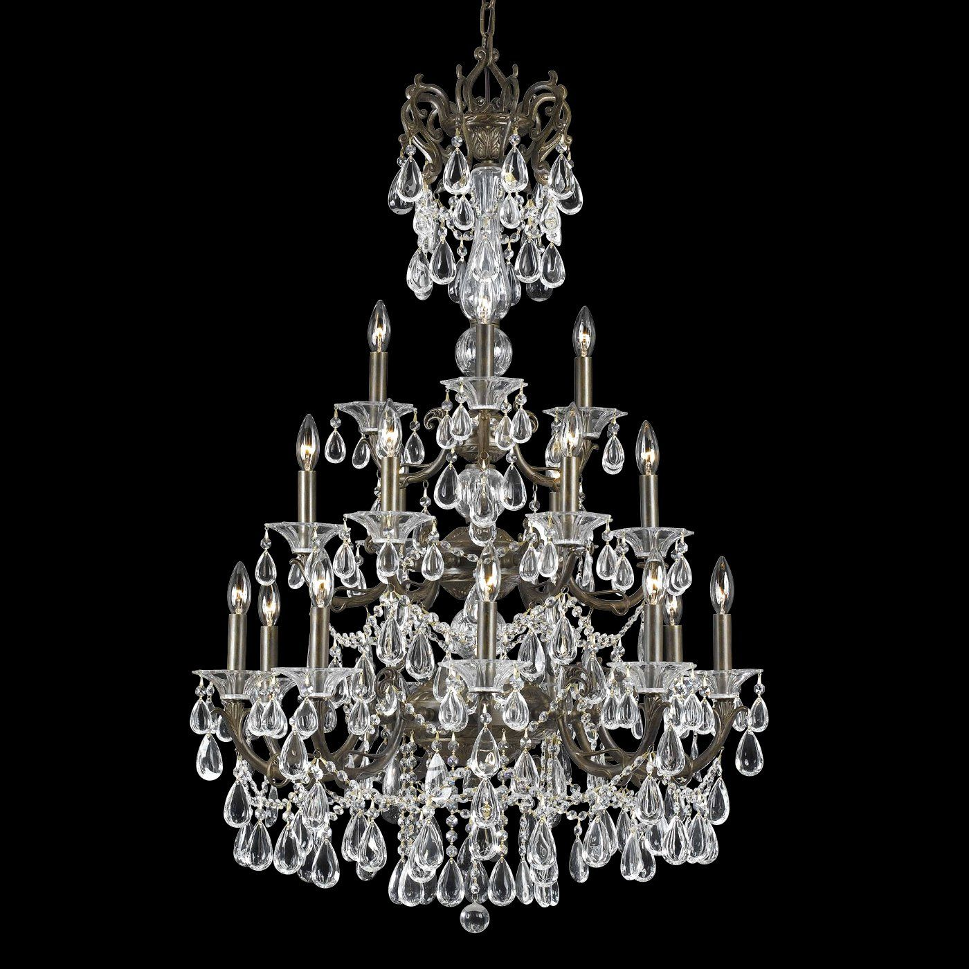 Triarch 18 Light Renaissance Chandelier English Bronze