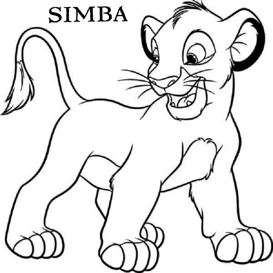 Get A Free Printable Coloring Pages For Children Simba The Lion