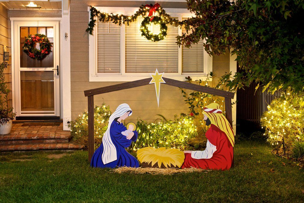 Christmas Nativity Set Outdoor.Large Classic Outdoor Christmas Nativity Scene Holy Family