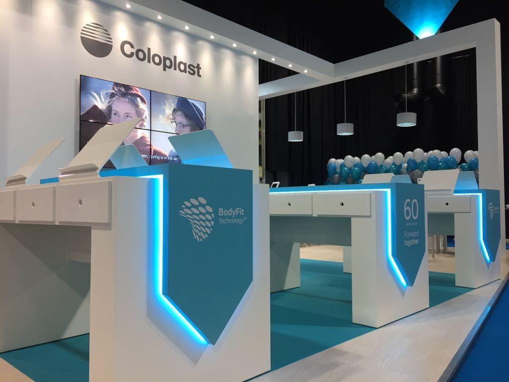 Exhibition Stand Contractors Glasgow : Coloplast ascn glasgow exhibition stand creative