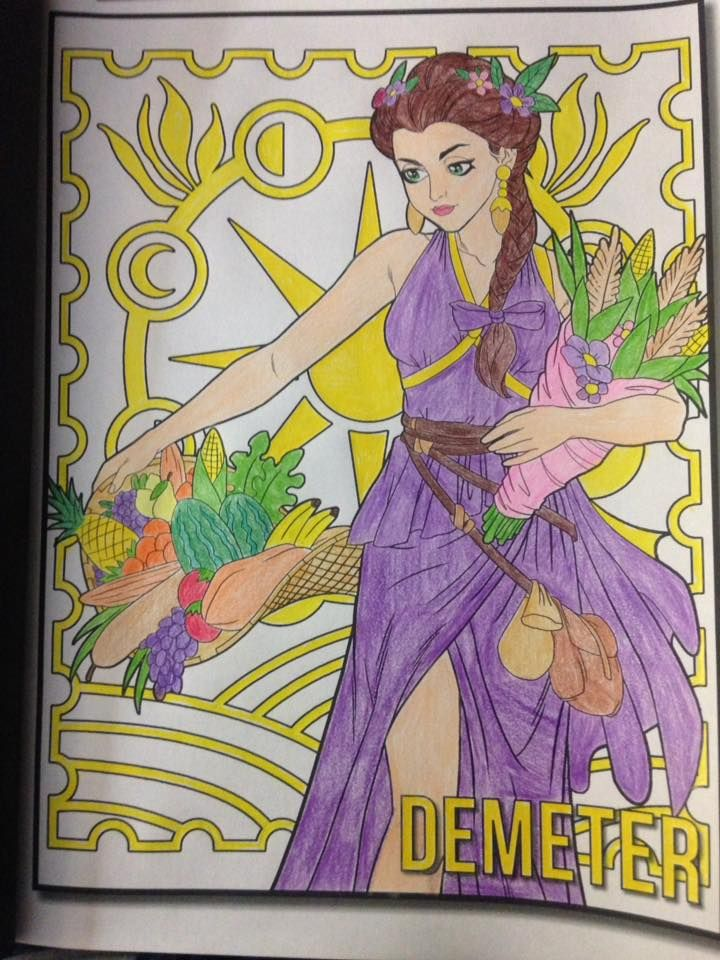 Demeter the Goddess of the Harvest from Greek Mythology