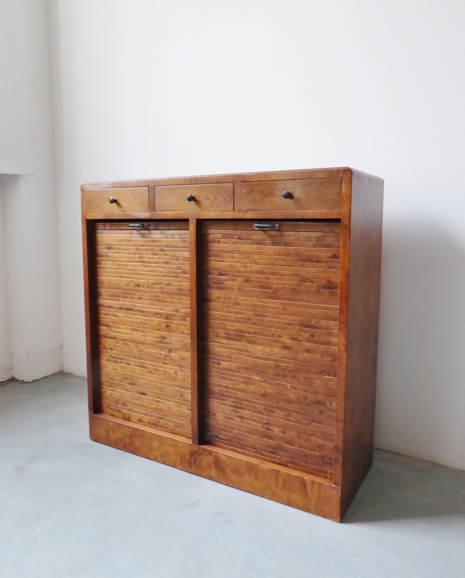 1930s Danish Double Tambour Filing Cabinet Storage Pinterest  # Meuble Tv Zorg