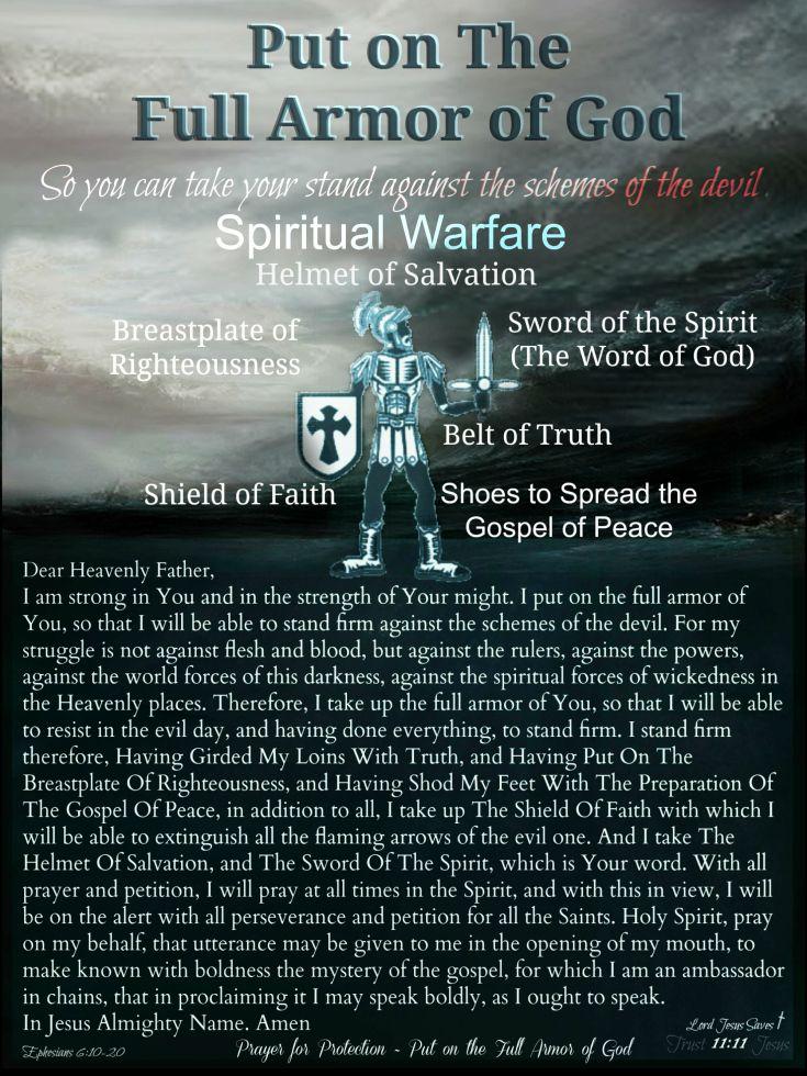 The Full Armor Of God Bible Prophecy God Prayers Armor Of God