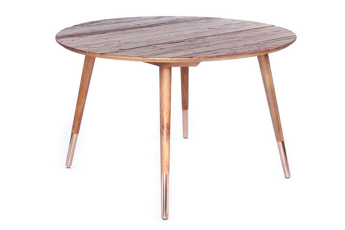 Tisch Ulme Rund Mit Kupfer Esstische Rund Tische Esstisch Tisch