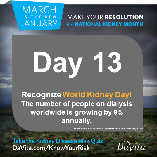 It's #WorldKidneyDay! Join us today for a #HOA at 11:30 am