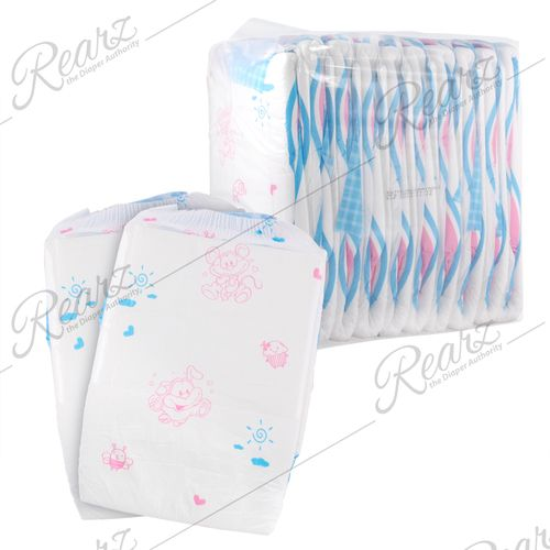 Pack of 20 Cuddlz Bright DayZ Pattern Disposable Nappies//Diapers Size Large Waist 34 to 53 inches ABDL Nappy Incontinence Diaper 76cm to 135cm