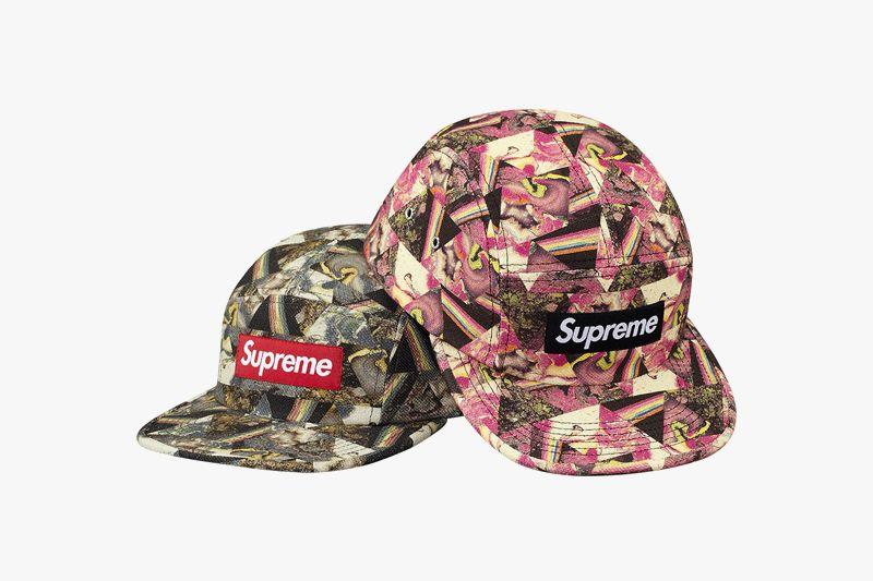 c568cf03523 Supreme x Liberty Thorgerson Camp Caps