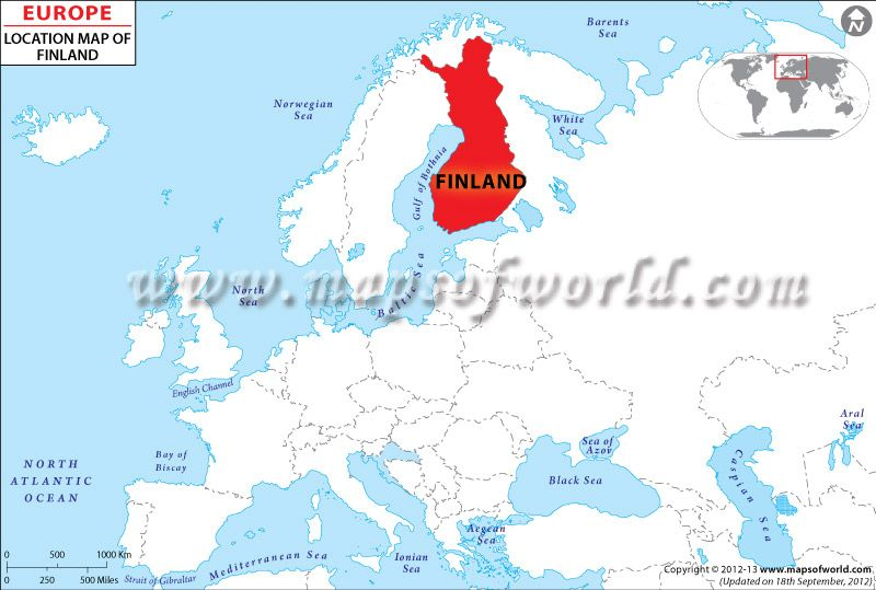 Location #Map of #Finland shows where is present in the #EuropeMap ...