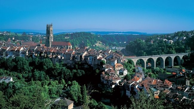 Fribourg, Switzerland. Quite possibly the prettiest little