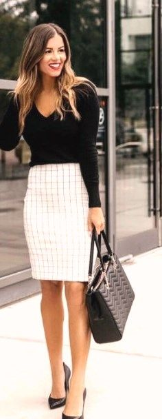 30 stunning work outfits with skirt #womensworkoutfits