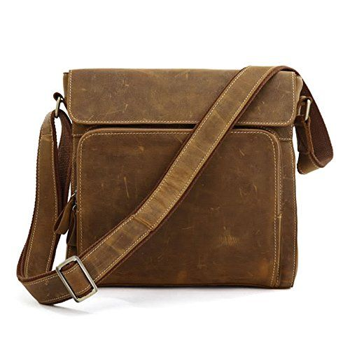 new concept top brands timeless design Kattee Leather Small Crossbody Shoulder Bag-Fit Ipad ...