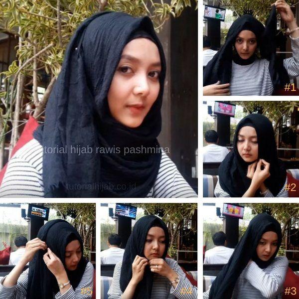 Cara Memakai Jilbab Pashmina Crinkle Hijabfest