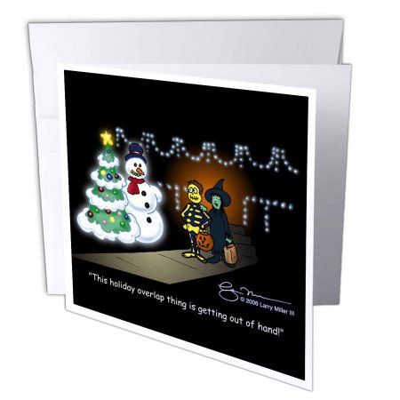 3drose larry miller cartoon about holiday overlap for christmas 3drose larry miller cartoon about holiday overlap for christmas greeting card 6 x 6 m4hsunfo