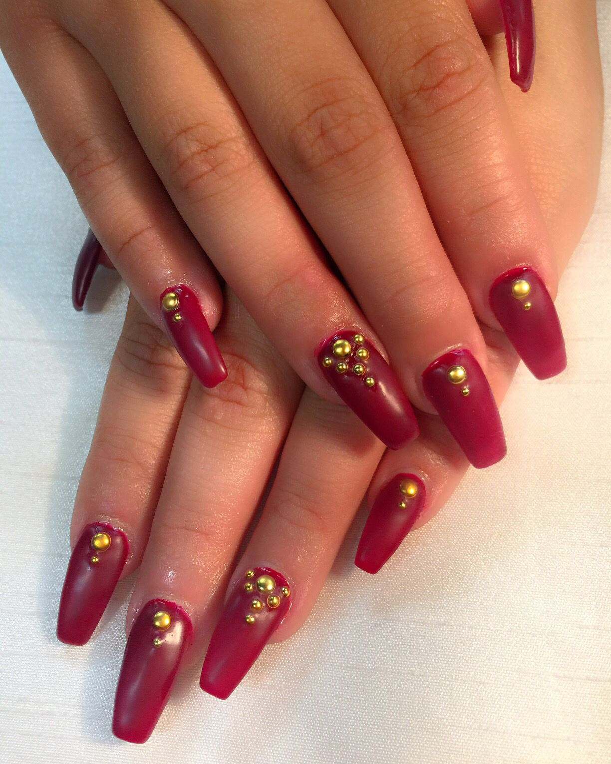 Matte redcoffin nailsclawsgold studspro nails nail art matte redcoffin nailsclawsgold studspro nails prinsesfo Images