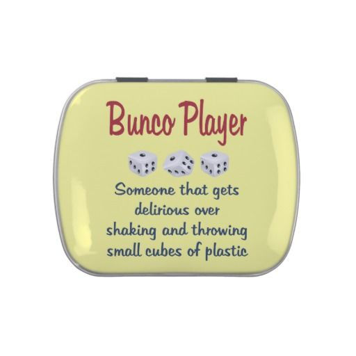 Bunco Player  Definition Jelly Belly Candy Tin