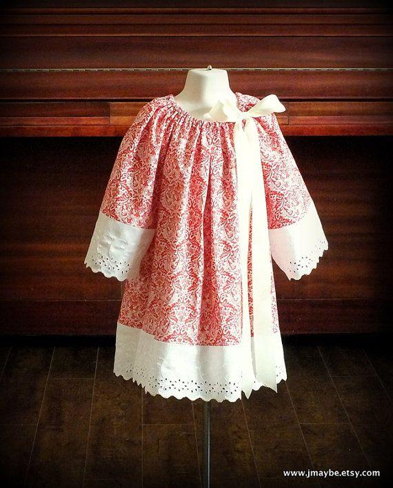 Girls eyelet lace dress