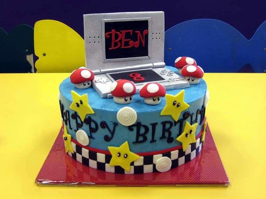 Nintendo Ds Mario Kart Birthday Cake For Bens 8th Birthday