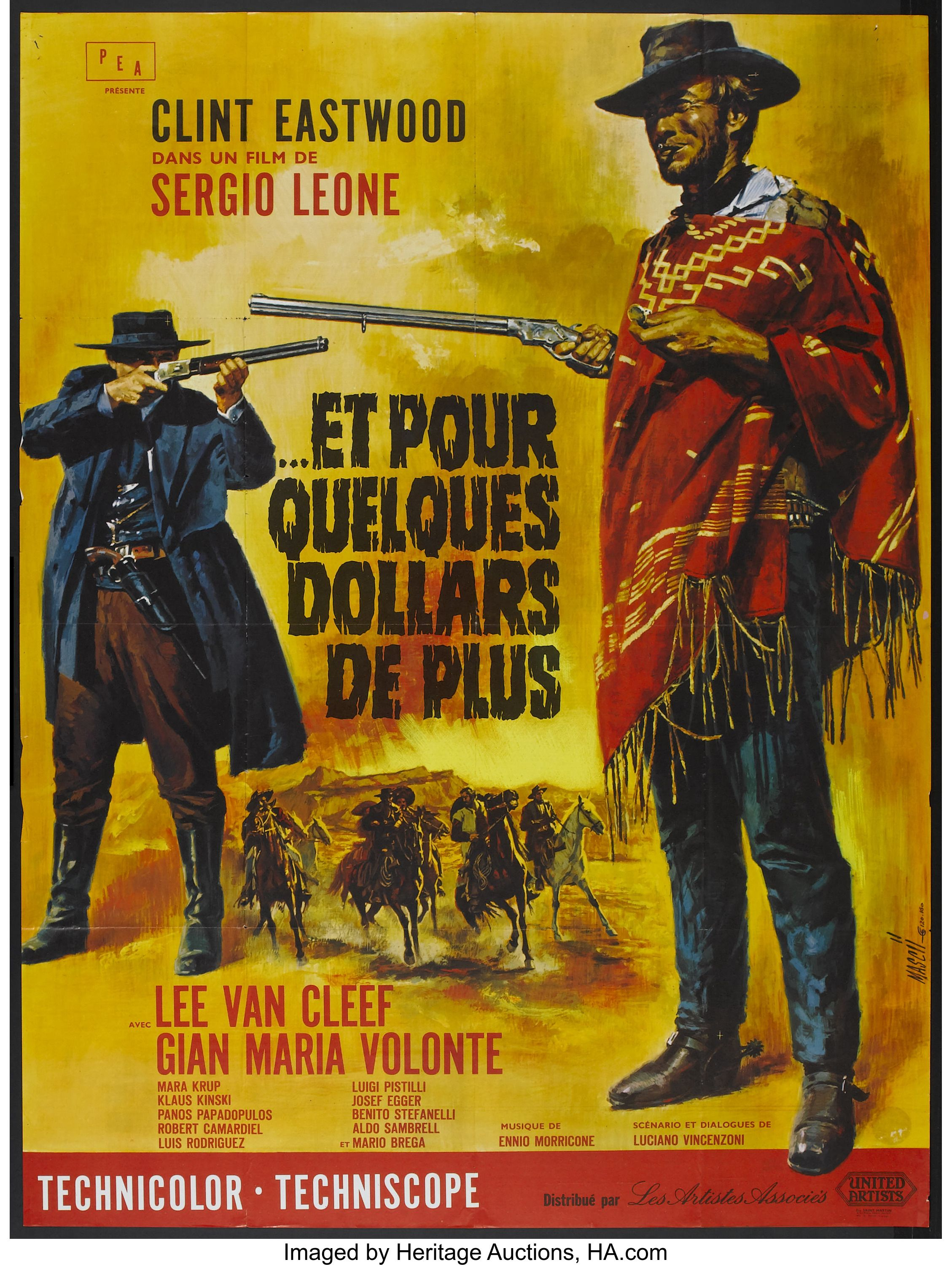 A Fistful of Dollars (United Artists, 1967)  French Grande (47