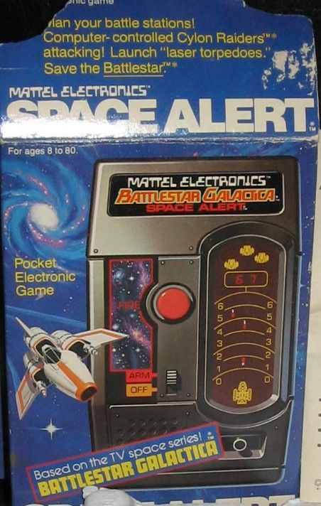 Vintage Toys And Games : Mattel battlestar galactica space alert electronic