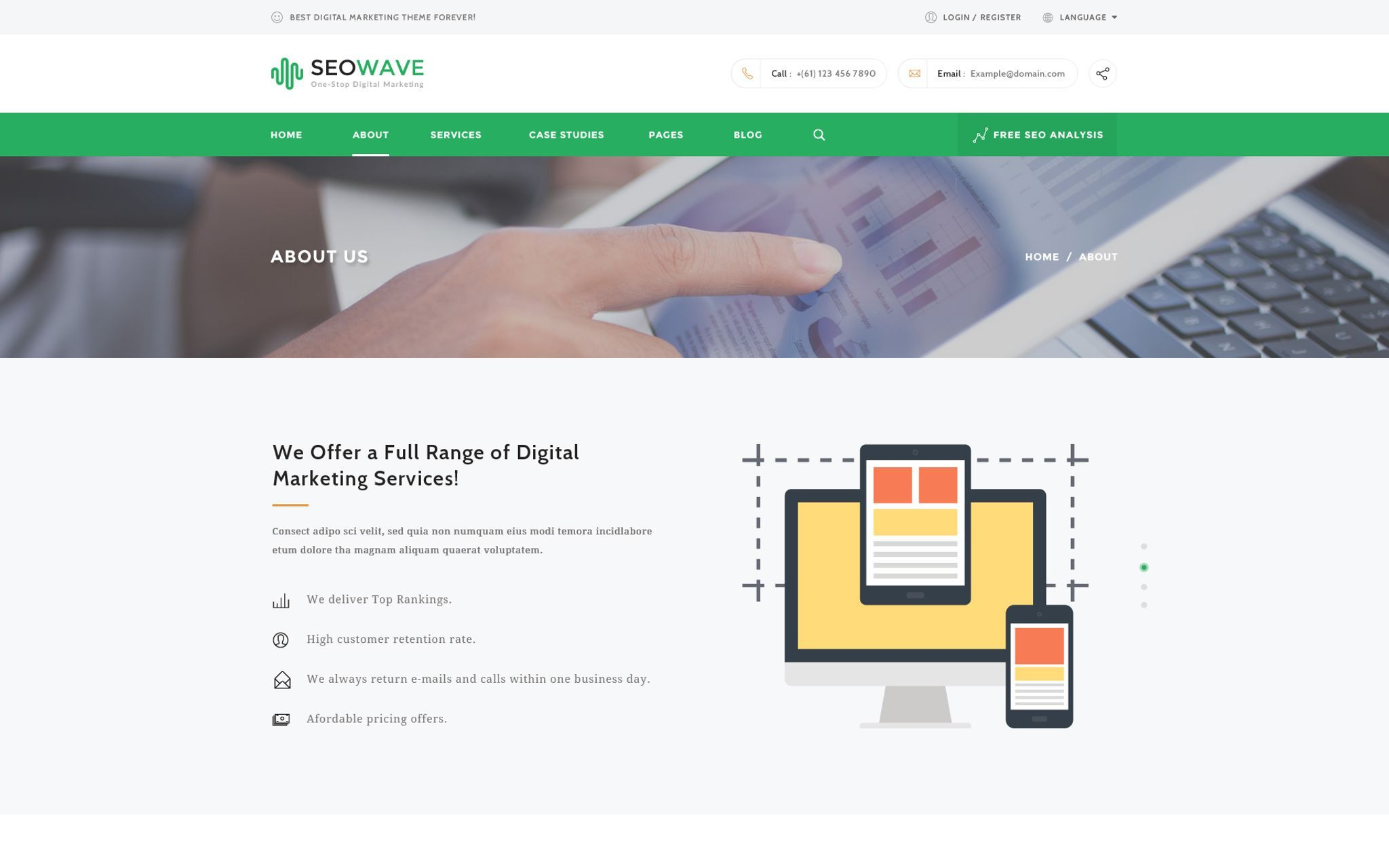 Seo Wave Seo With Images Digital Marketing Services Wordpress Theme Game Design