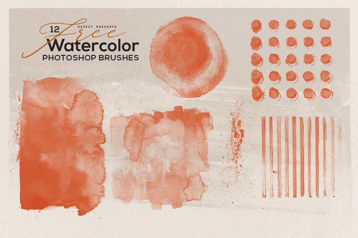 12 Free Abstract Watercolor Brushes On Behance