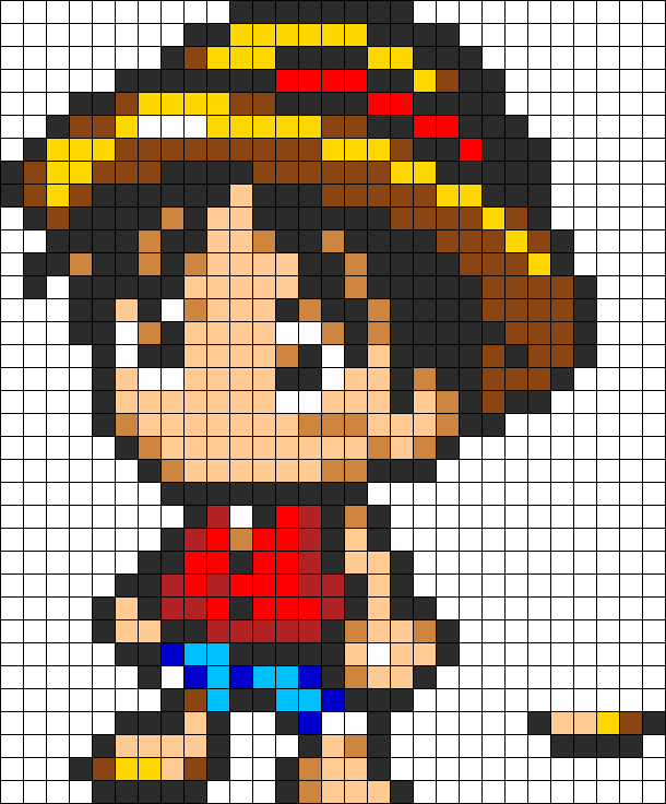Luffy Art Chibi Minecraft Pixel