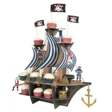 Ahoy There Pirate Ship Centrepiece - 1 Pack