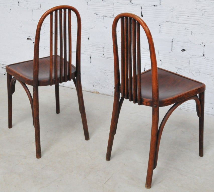Thonet vintage chairs, art deco style, 1930