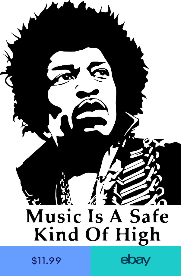 Jimi Hendrix Quote Music Legend Wall Car Truck Window Vinyl Sticker Decal 12 Silhouette Art Jimi Hendrix Airbrush Art