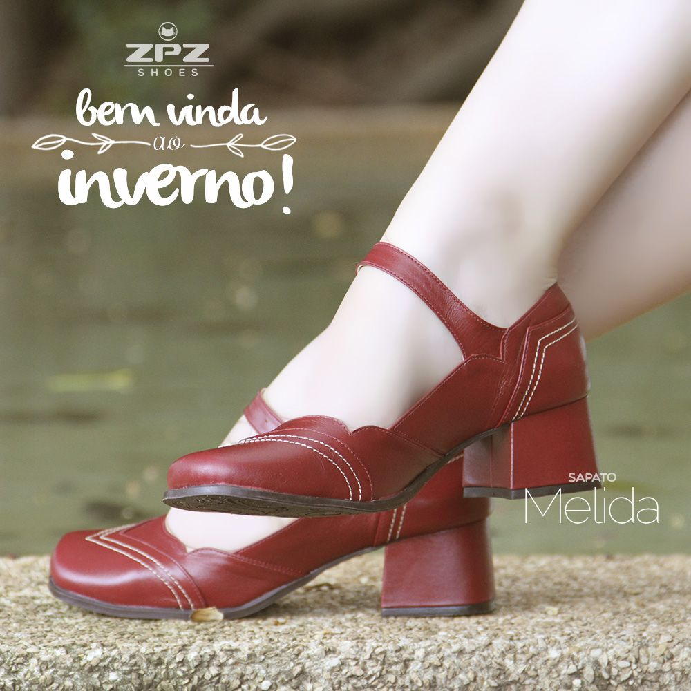 8012bedea3 Sapato Retrô Melida Sapatos De Couro, Sapatos De Boneca, Sapatos Retro  Feminino, Sapato