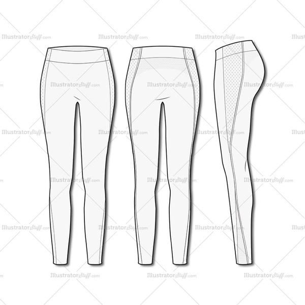 Women\'s Fashion Seamless Sport Legging Flat Template | Template ...