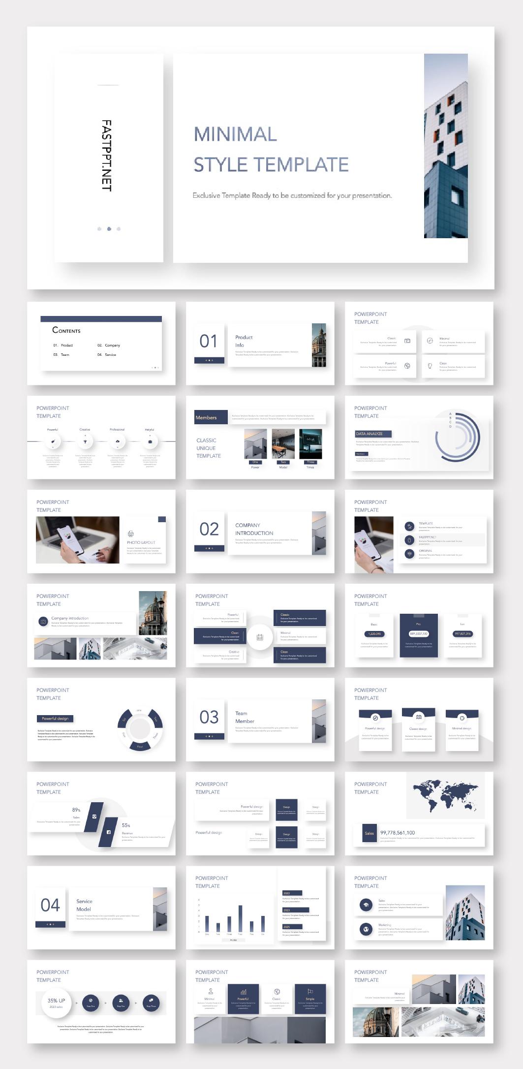 Portal Modern Powerpoint Template Layout Design Powerpoint Design Presentation Layout