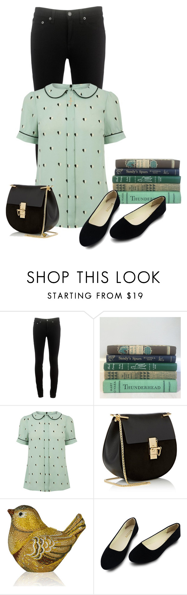 """Book shopping afternoon"" by cardigurl ❤ liked on Polyvore featuring rag & bone, Chloé and Judith Leiber"