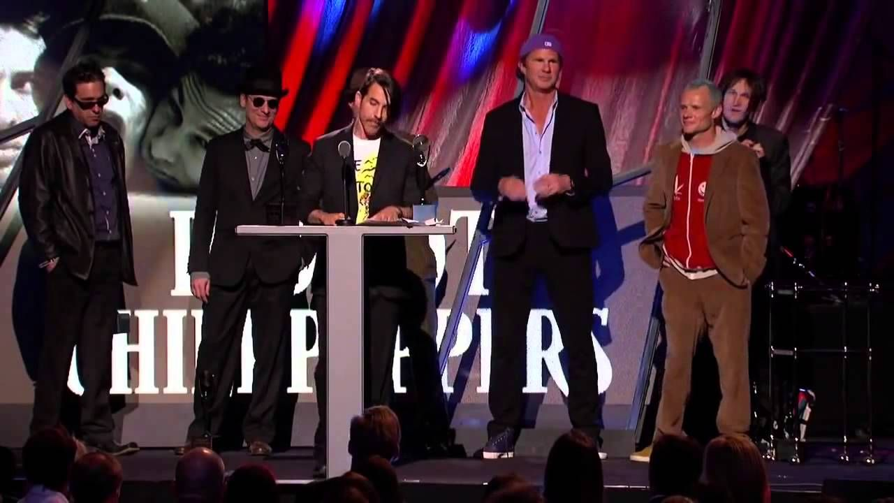 Red Hot Chili Peppers Rock And Roll Hall Of Fame Induction Hd Red Hot Chili Peppers Rock And Roll Red Hot