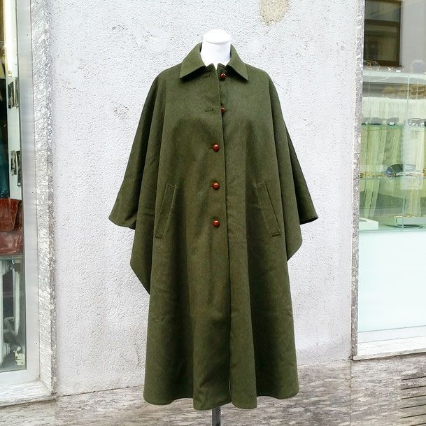 Vintage Loden Cape by Schneiders, authentic Tiroler Loden