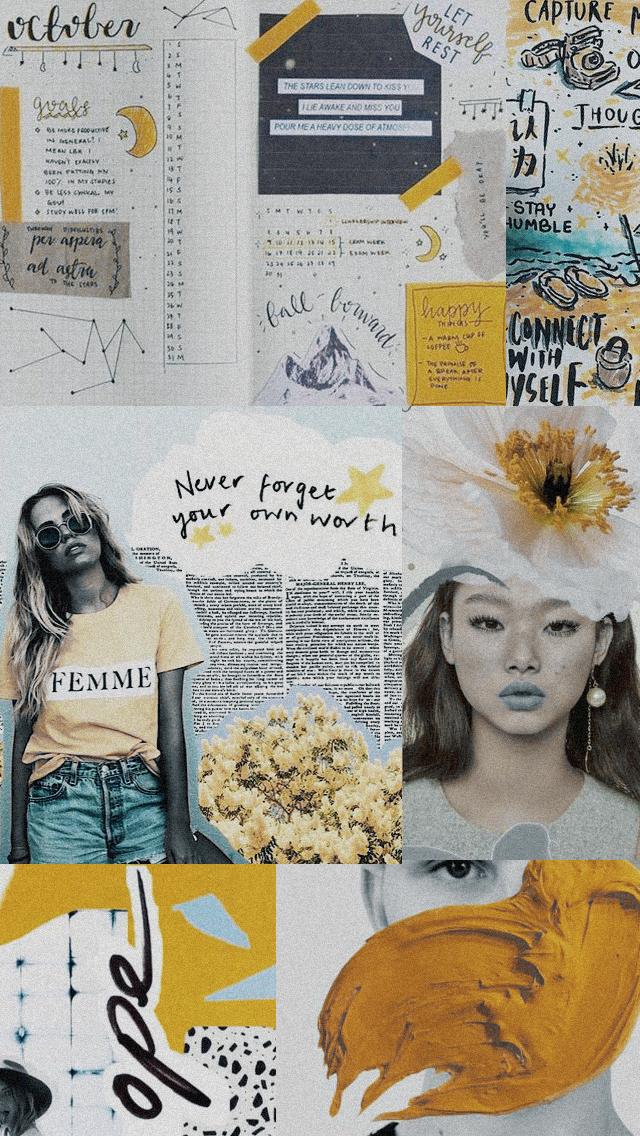 Lockscreens Newspaper Wallpaper Aesthetic Collage Cute Wallpapers
