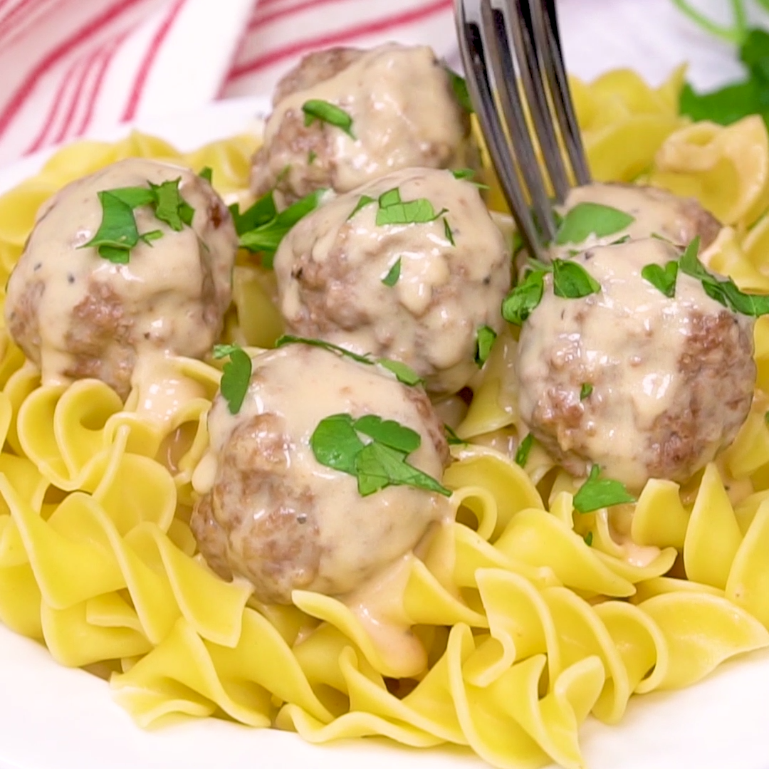 Easy Swedish Meatballs Video images