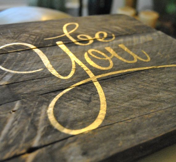 Be You Gold Lettering Pallet Wood Sign by theheartsandcrafts