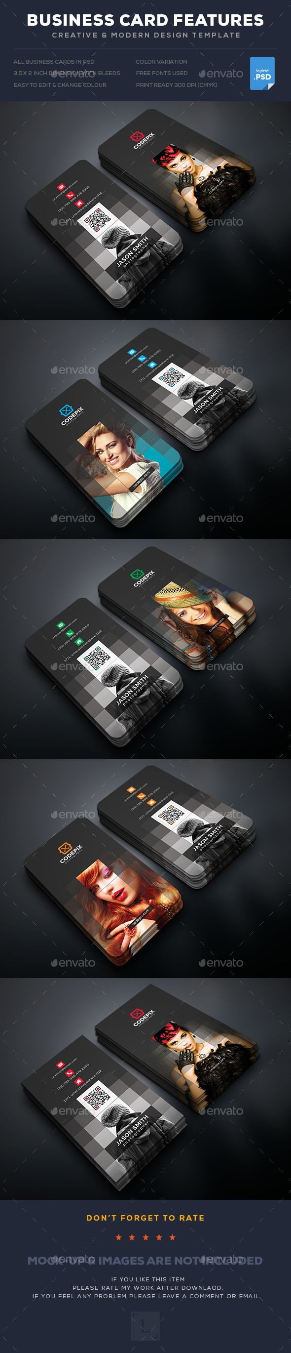 Photography Business Card — Photoshop PSD #simple #graphic ...
