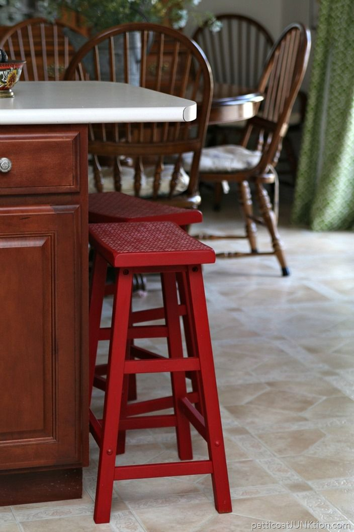 why i painted my bar stools imperial red bar stool stools and bar
