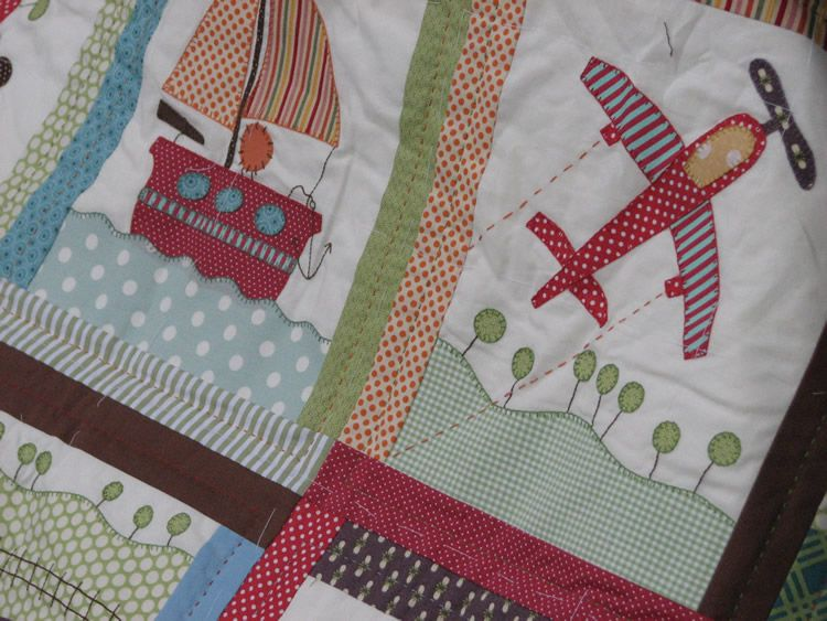 Airplane Baby Quilt Pattern Quilt I Thought I D Use Brighter