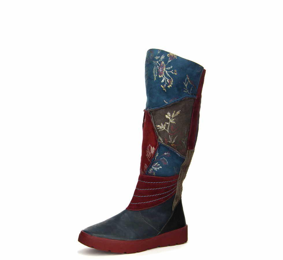 Schöne Damen Stiefel Von Think Aus Einem Feinen Hochwertigem Glattleder In Der Farbe Blau Das Außenmaterial Ist Pflegeleicht Und So Stiefel Blau Stiefeletten