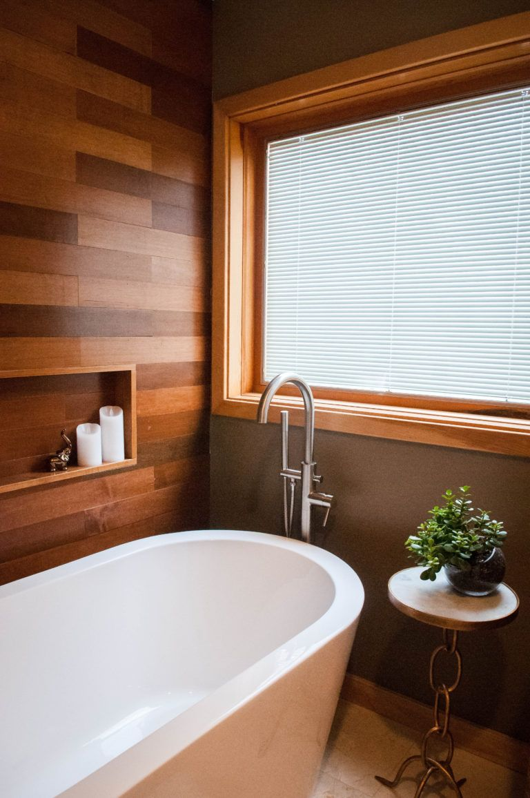 How To Install A Plank Wall Construction2style Bathroom Decor Plank Walls Inspire Me Home Decor
