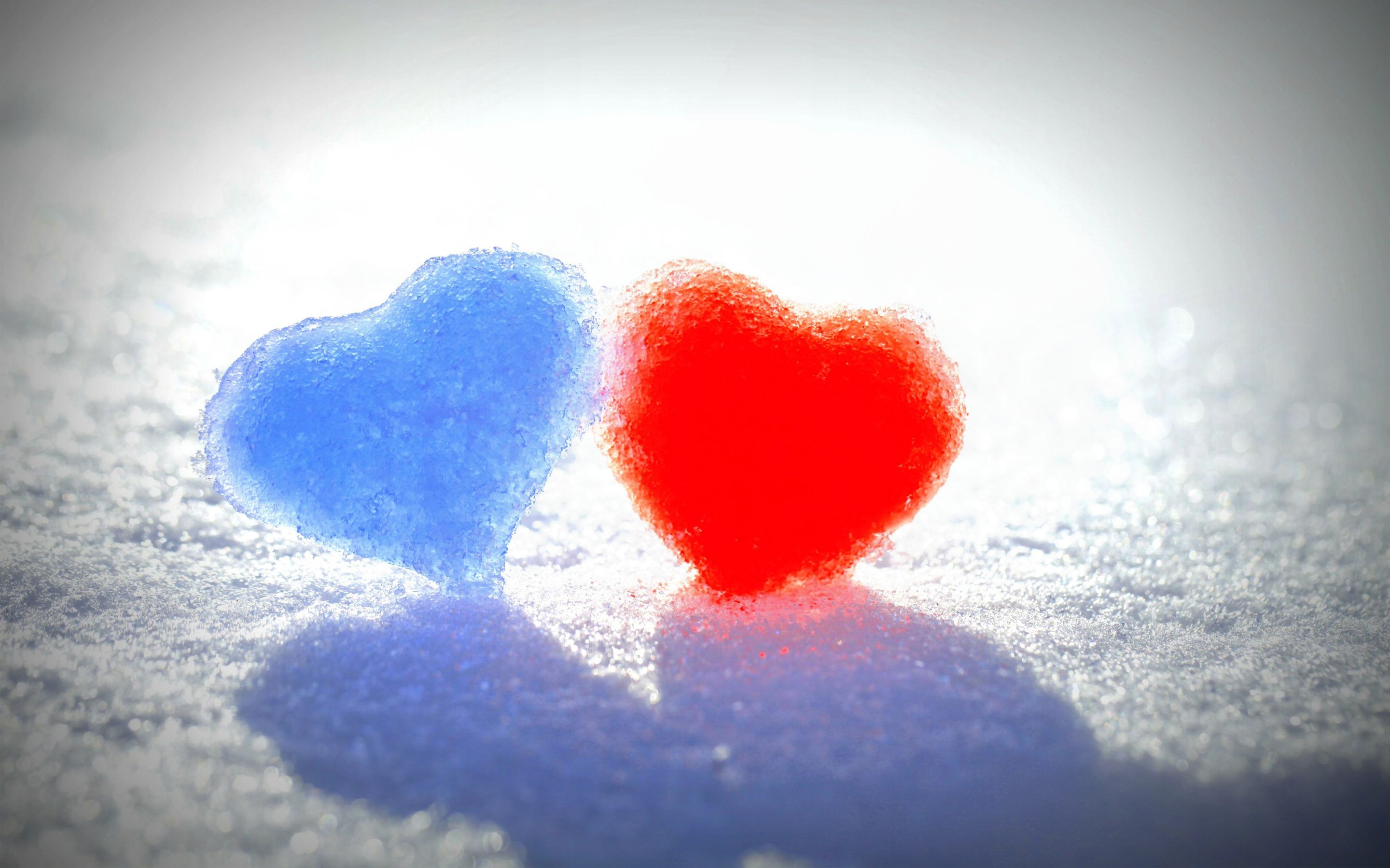 Awesome Blue Red Snow Hearts Wide Love Pinterest Snow