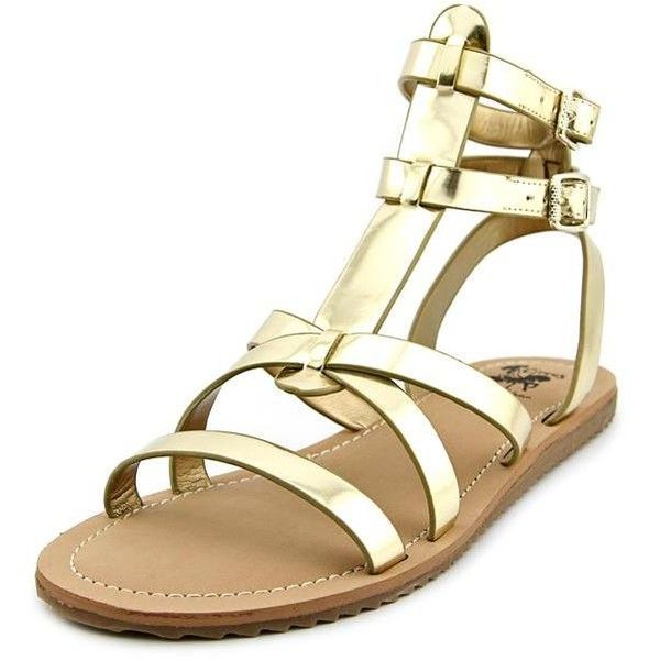 Sam Edelman Selma Women Gladiator Sandals ($66) ❤ liked on Polyvore featuring shoes, sandals, gold, synthetic shoes, greek gladiator sandals, gold shoes, gold greek sandals and gold sandals