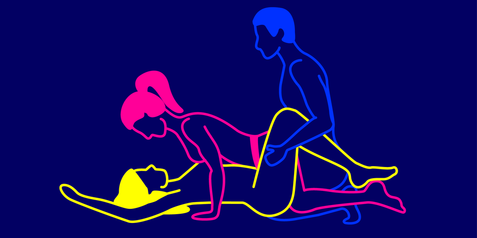 Threesome sex positions pics
