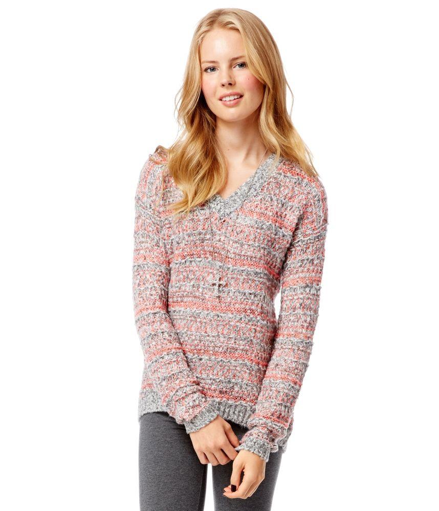 Marled V-Neck Sweater from Aeropostale